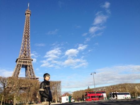 La Tour Eiffel; The Eiffel Tower - Tourist viewing Tallest Structure in Paris