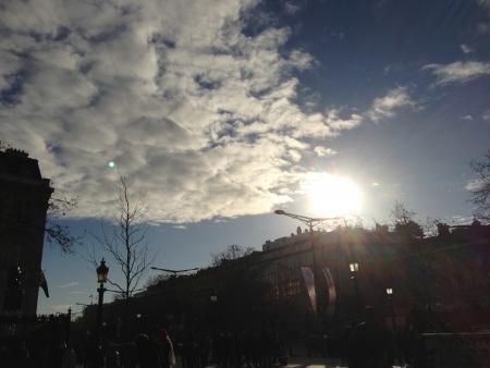 Bright sun in winter