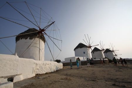 Famous windmill of Mykonos, Greece Editorial