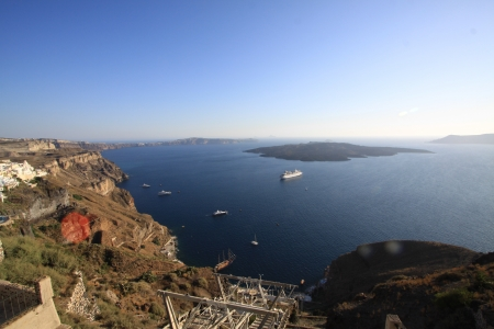 View from Santorini Island, Greece Stock Photo