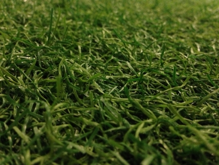 Close up view of artificial grass Stock Photo