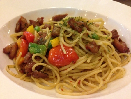Chicken Aglio-Olio Spaghetti