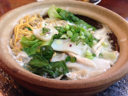 Claypot Yee Mee Chinese noodles soup
