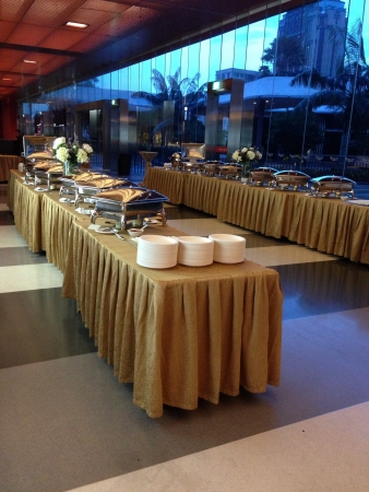 Buffet setting for event