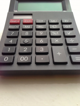 Close up view of digital calculator Stock Photo