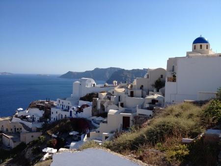 View in Santorini Greece