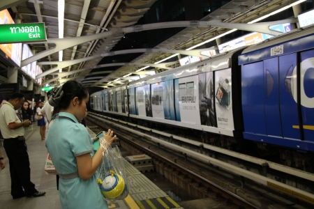 MRT railway station at Bangkok, Thailand