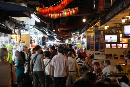 Street walk at Chinatown, Singapore