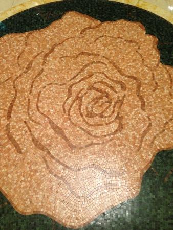 Tiles design on floor Stock Photo