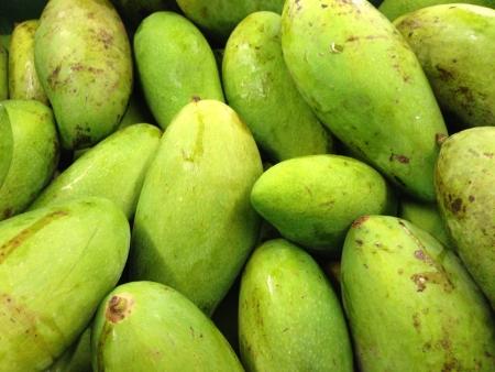 Green mangoes Stock Photo