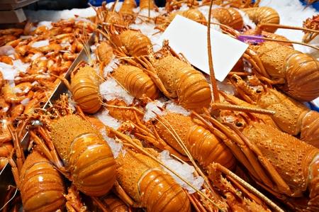 Fresh lobsters in wet market