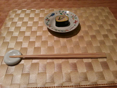 placemat: Sushi roll on placemat