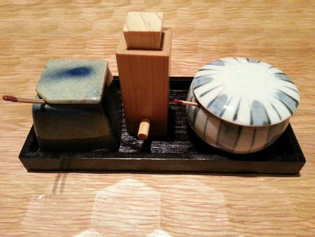 condiments: Japanese condiments tray
