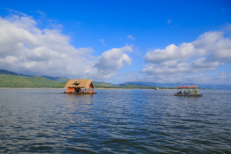 house float on water: Thailand dam raft
