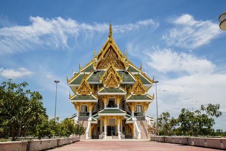 angthong: Beautiful temple in Angthong province of Thailand Stock Photo
