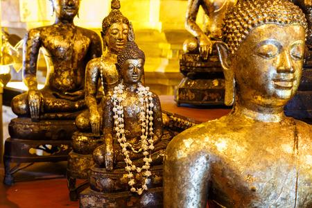 The gilded Buddha statue