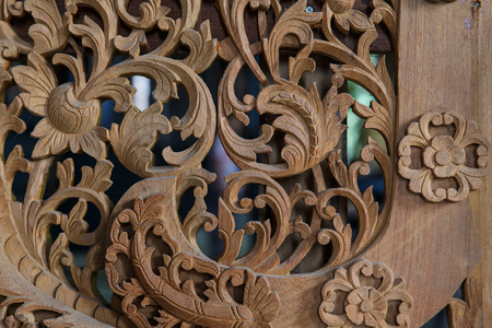wood carvings: Wood carvings of Thailand Stock Photo