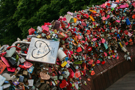 padlocks: Love padlocks of  N Seoul Tower