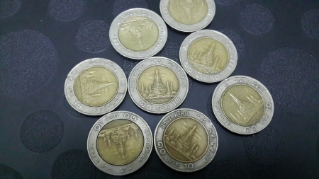 baht: Thai Baht Currency  10 baht