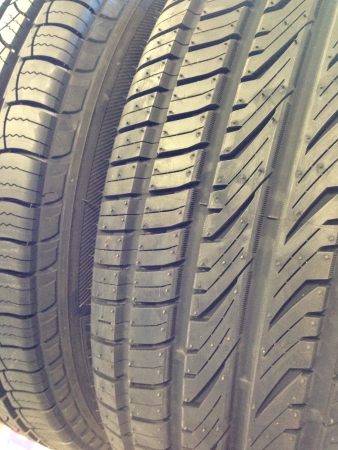 tread: Tire tread