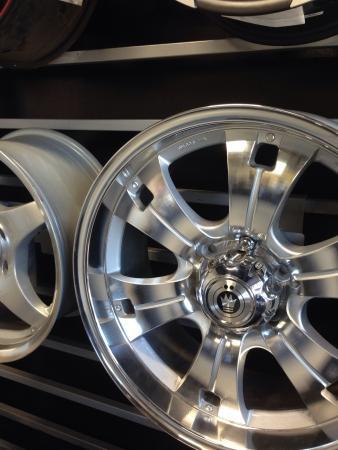 chrome: Chrome wheel Stock Photo