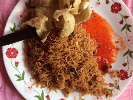 hoon: Mee hoon goreng on a plate