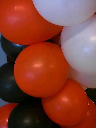 black white red: colorful ballon