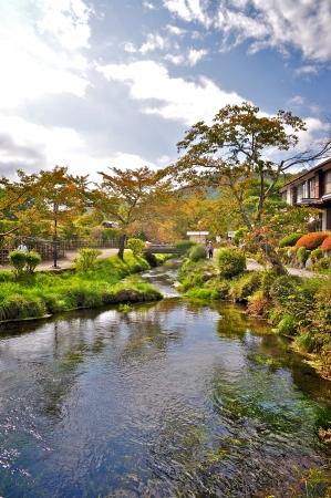 springwater: Fresh water stream near Oshino Hakkai