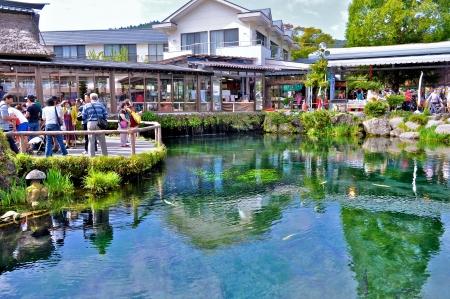 springwater: Oshino Hakkai, Japan, Yamanashi, September 16, 2013 Fresh water from Mount Fuji
