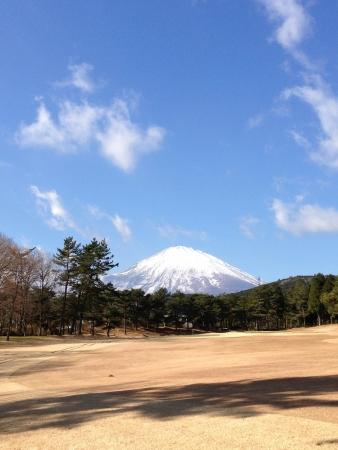 富士山周辺冬ゴルフ