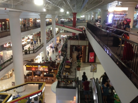 Interior view of Malaysian shopping mall Subang parade