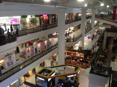 Interior shot from top floor of Subang parade shopping mall