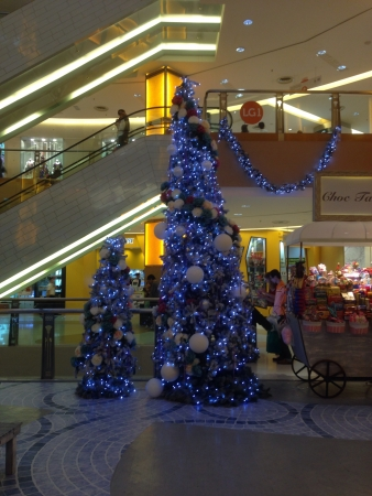 Christmas tree decoration in sunway pyramid