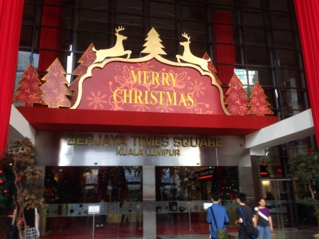 Entrance of Berjaya Times Square Christmas 2013