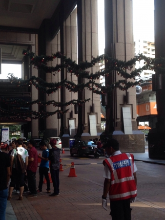 Berjaya Times Square entryway Christmas 2013