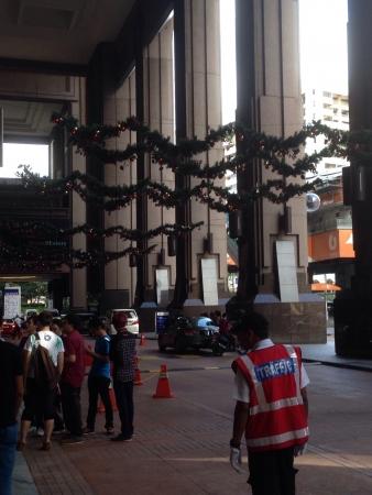 entryway: Berjaya Times Square entryway Christmas 2013
