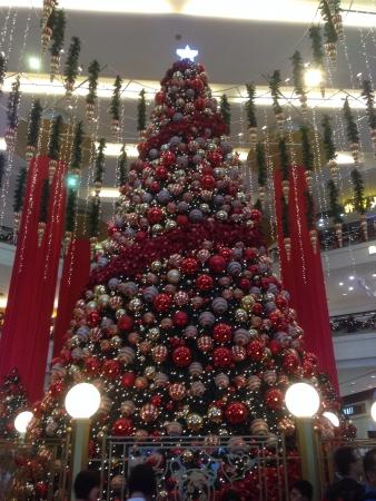 Arbre de No�l au Berjaya Times Square Banque d'images