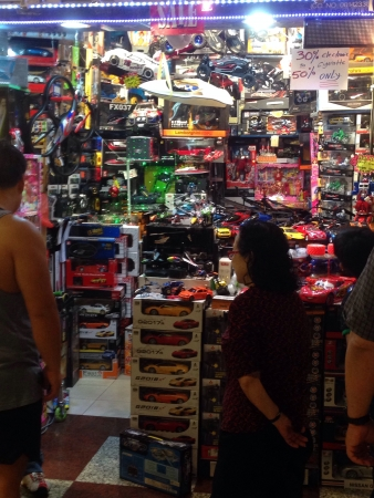 Small toy store in Berjaya Times Square  Stock Photo