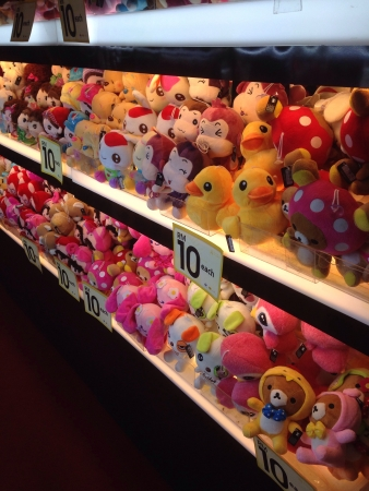 Toys for sale on display