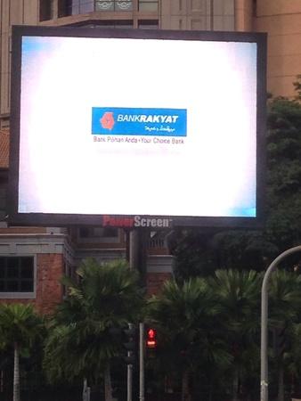 TV advertising outside Berjaya Times Square  Stock Photo