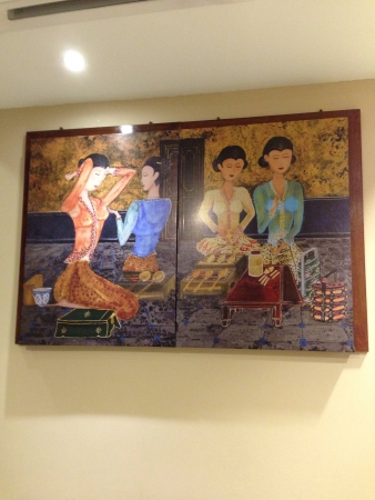 Nyonya style art on wall  Stock Photo