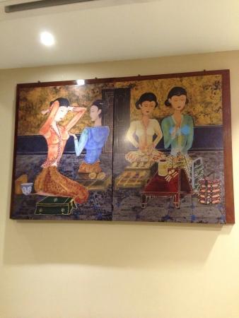 Nyonya style art on wall  Stock Photo