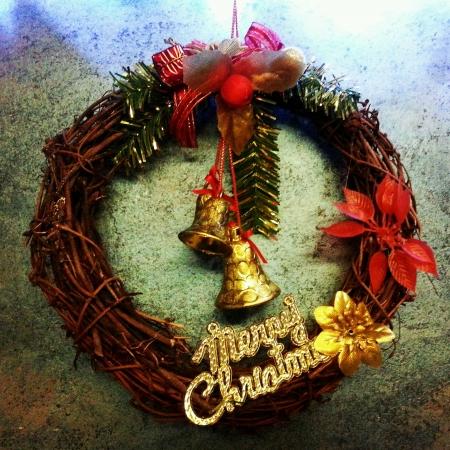 wish: Christmas wreath
