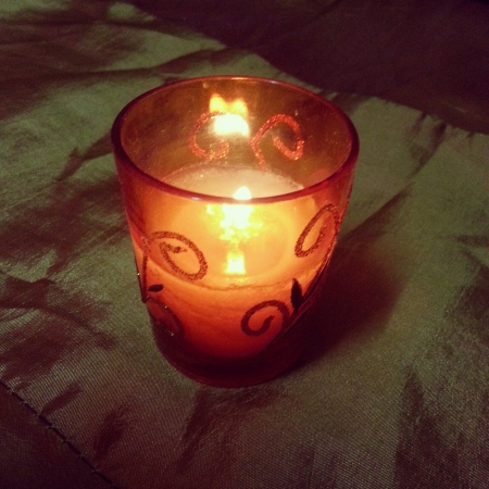 lighted: Lighted up fragrant candle