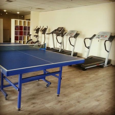ping pong: Ping  pong table in a gym