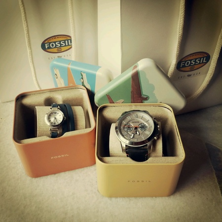 her: Fossil watches for him and her