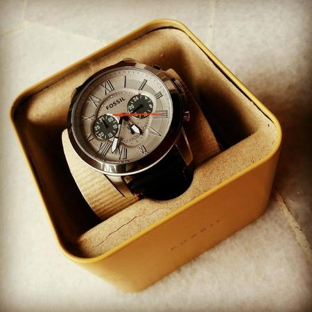 mans watch: Reloj Fossil de hombre Foto de archivo