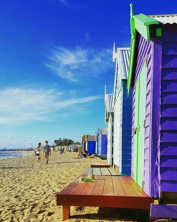 bright: Brighton Beach, Australia