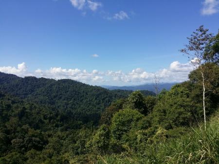 titiwangsa: The scenery of Banjaran Titiwangsa Perak Stock Photo