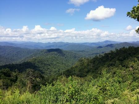 titiwangsa: Scenery of Banjaran Titiwangsa Perak Stock Photo
